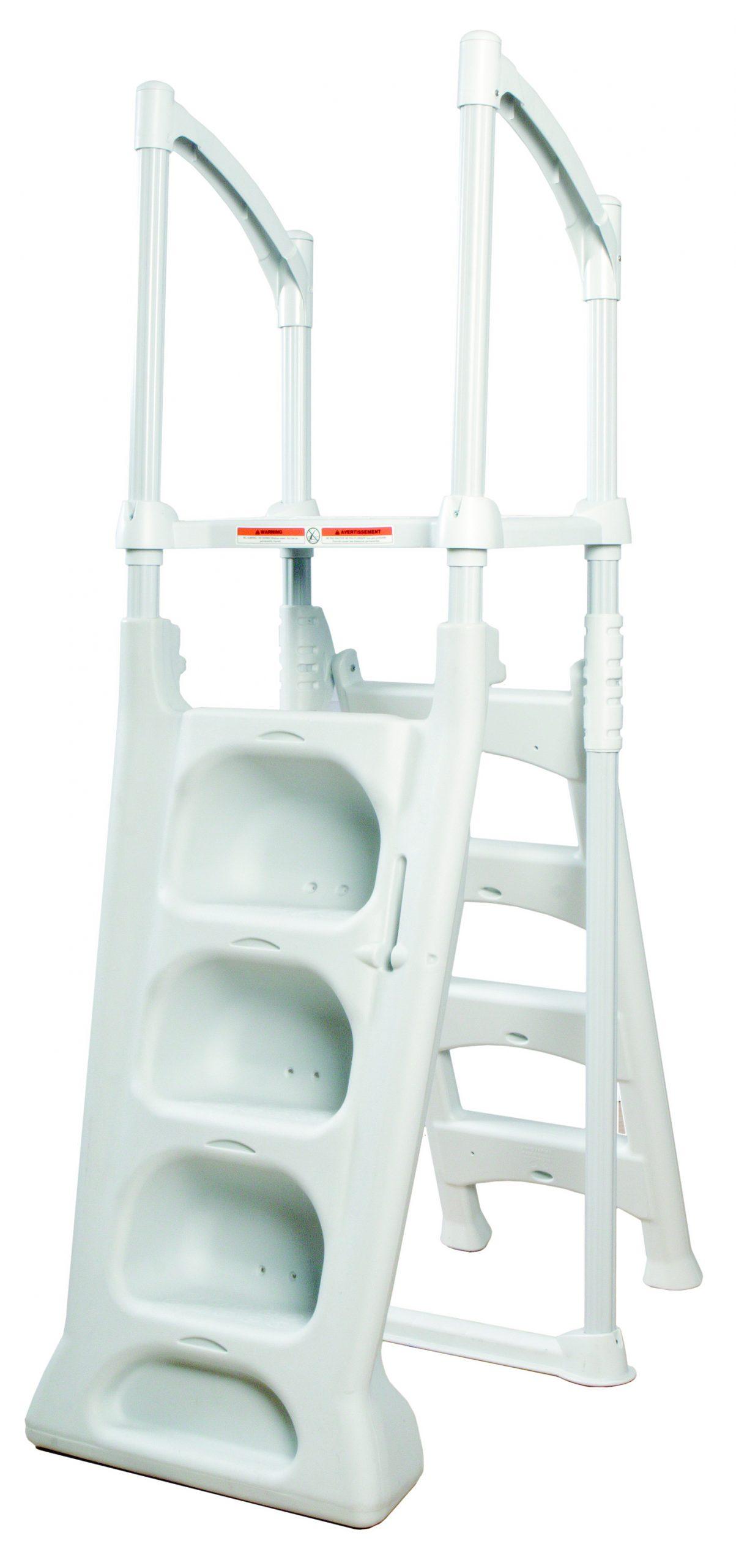 Escalier Double H2O Pour Piscine Hors-Sol - A-Z Piscine tout Escalier Pour Piscine