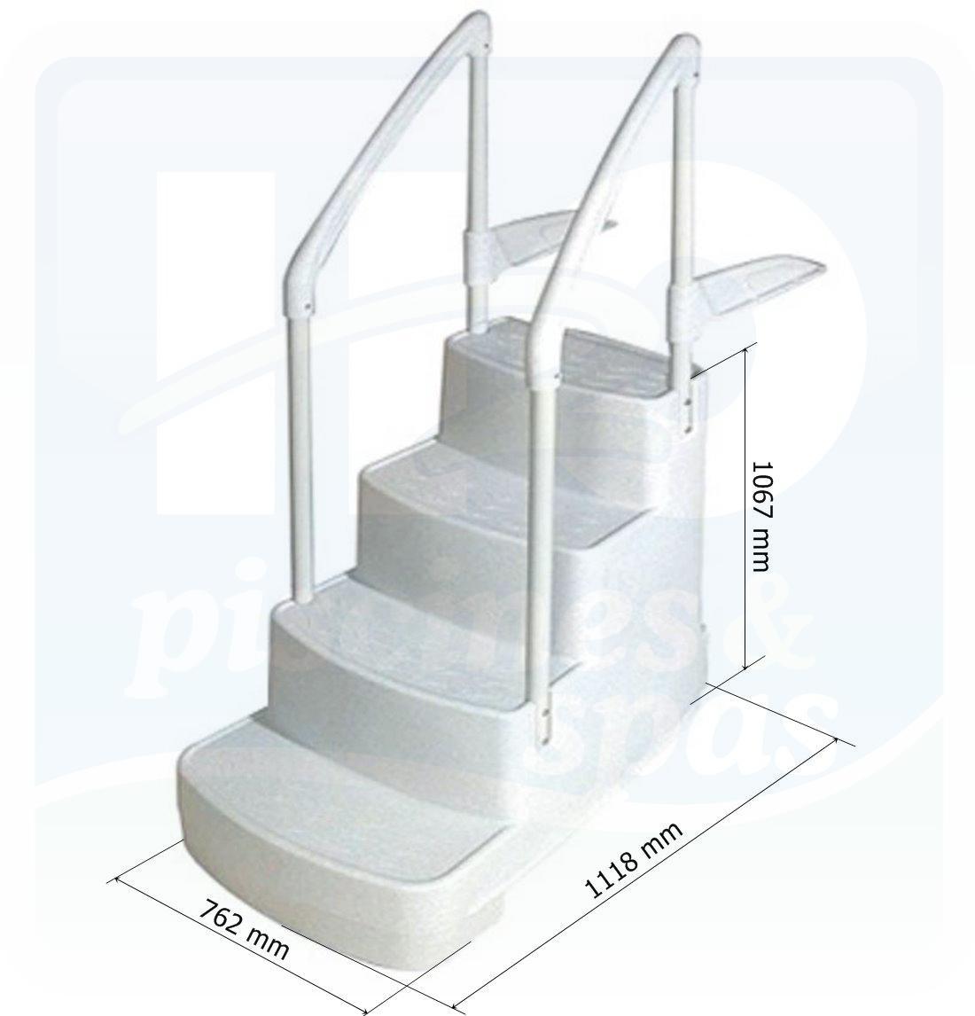 Escalier En Polyéthylène Double Main Courante - H2O Piscines & Spas avec Escalier Pour Piscine