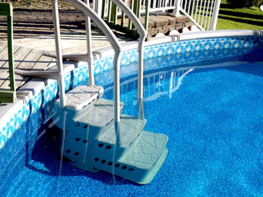 Escalier Intérieur Aquarius Pvc 4 Marches Avec Main Courante Piscine  Hors-Sol intérieur Escalier Pour Piscine