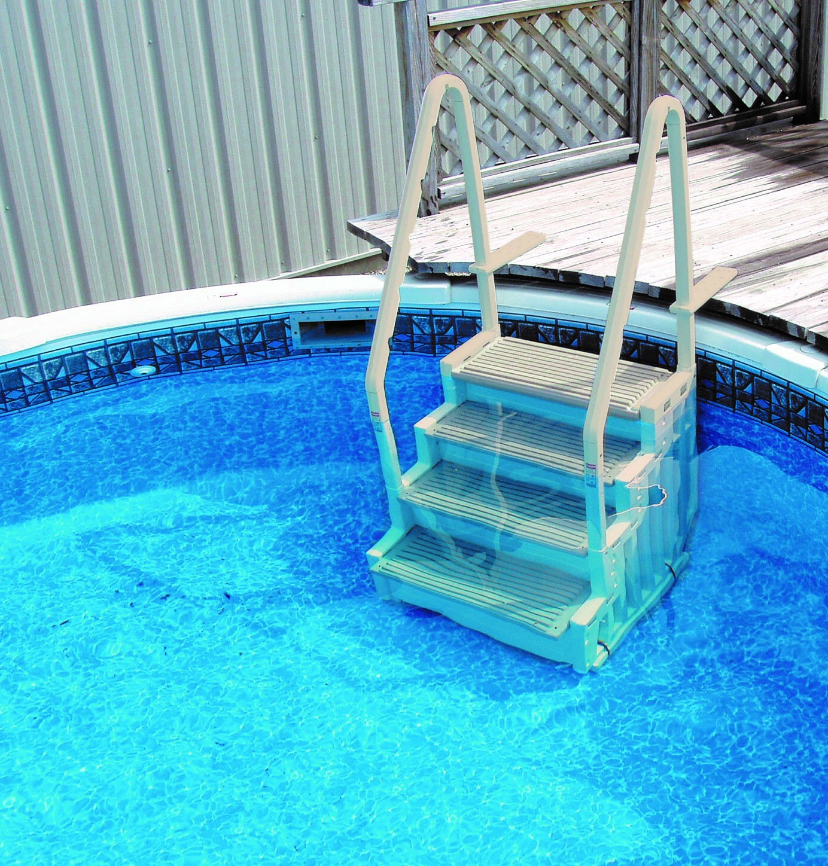 Escalier Intérieur Pour Piscine Logipool - H 122 Ou 147 Cm ... pour Escalier Pour Piscine
