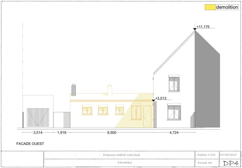 Exemple De Permis De Construire Extension : Réalisez Un ... destiné Plan De Coupe Piscine