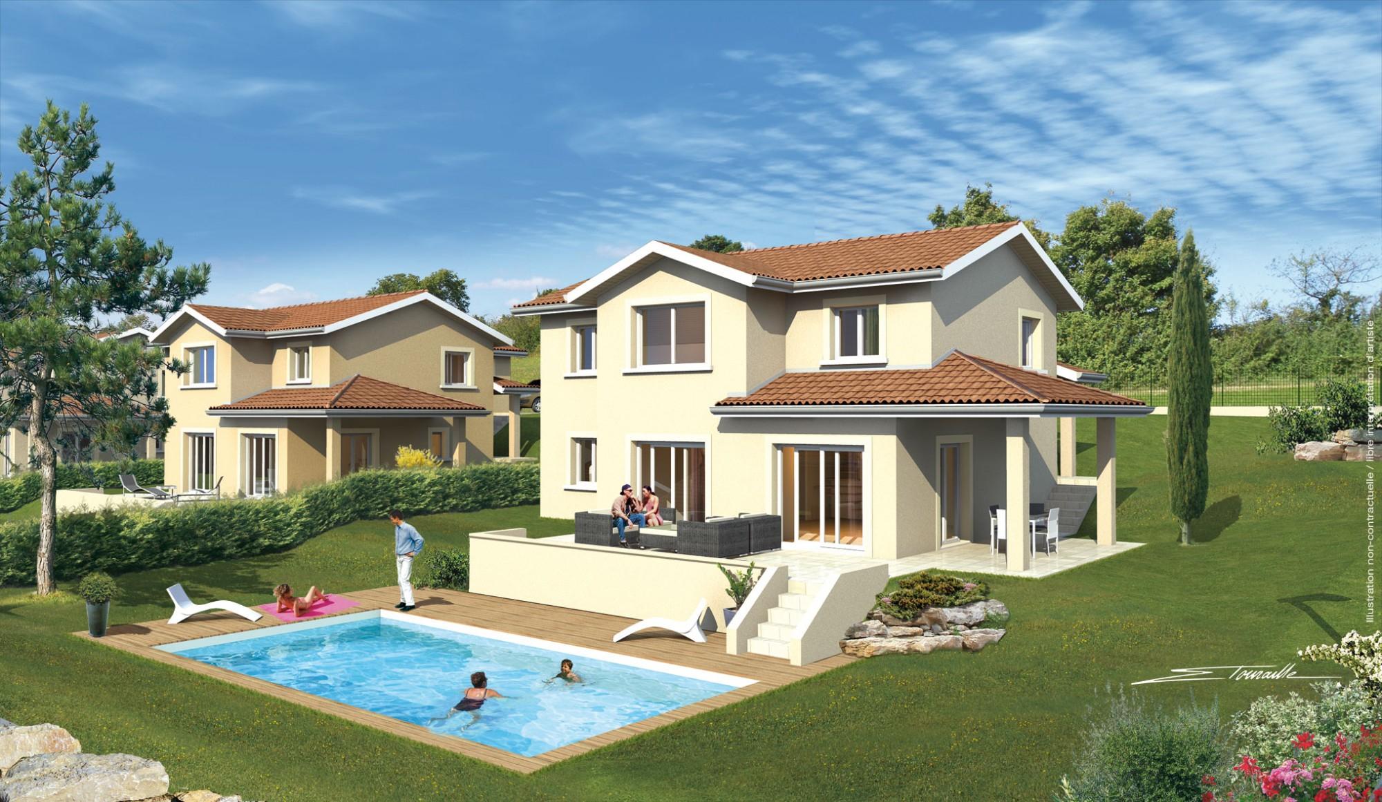 Faire Construire Une Maison Normes Rt2012 Ain - Ganova intérieur Piscine Villefontaine