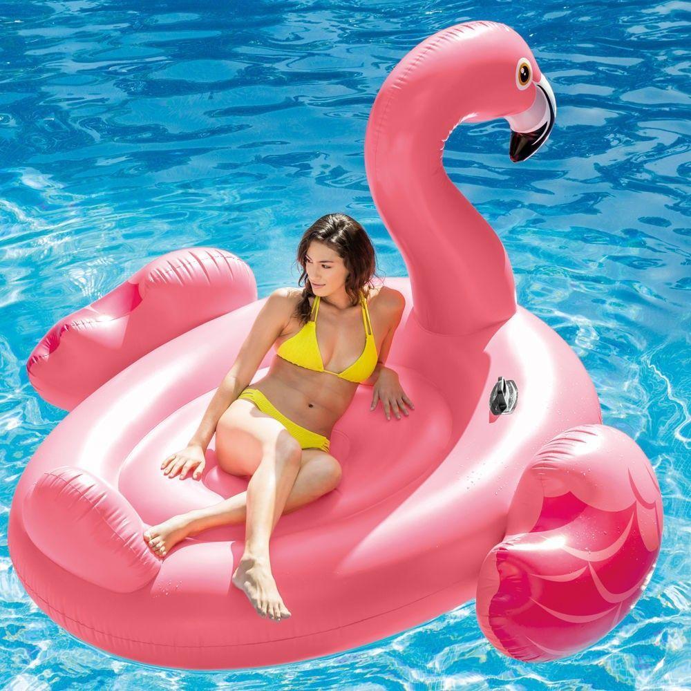 Fauteuil Gonflable Flottant Flamant Rose Piscine Mer Vacances 56288 dedans Flamant Rose Piscine