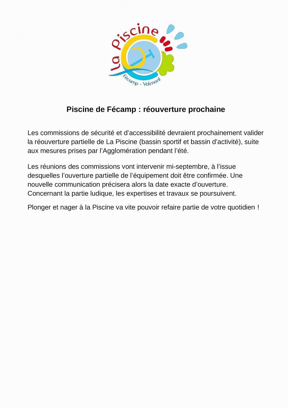 Fécamp. Fécamp : La Réouverture De La Piscine Se Fait Attendre concernant Piscine De Fecamp