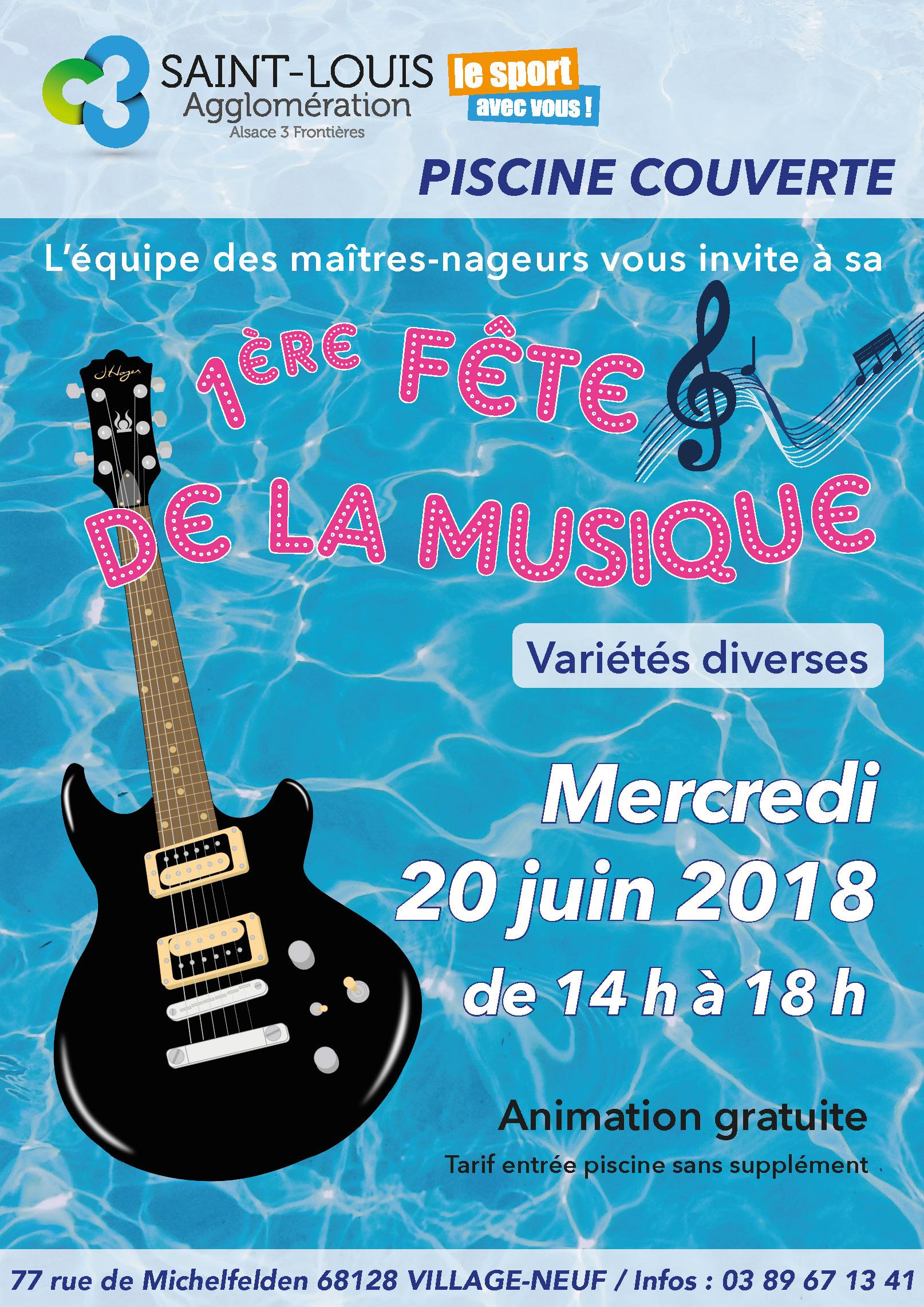 Fête De La Musique À La Piscine Couverte - Saint-Louis ... pour Musique Piscine