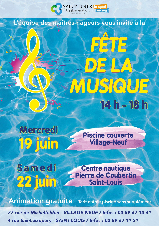 Fête De La Musique Dans Les Bassins - Saint-Louis Agglomération à Musique Piscine