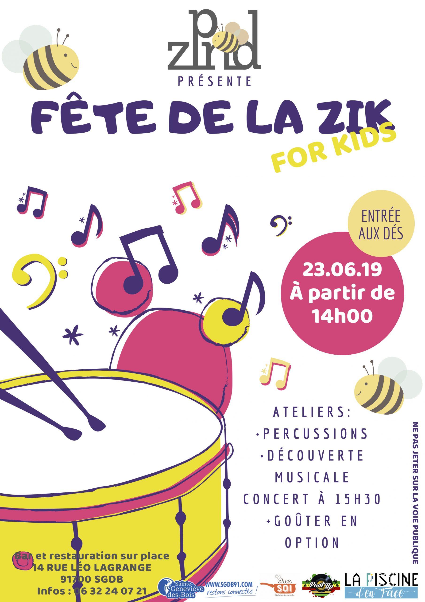 Fête De La Zik For Kids - La Piscine D'en Face concernant Zik Piscine