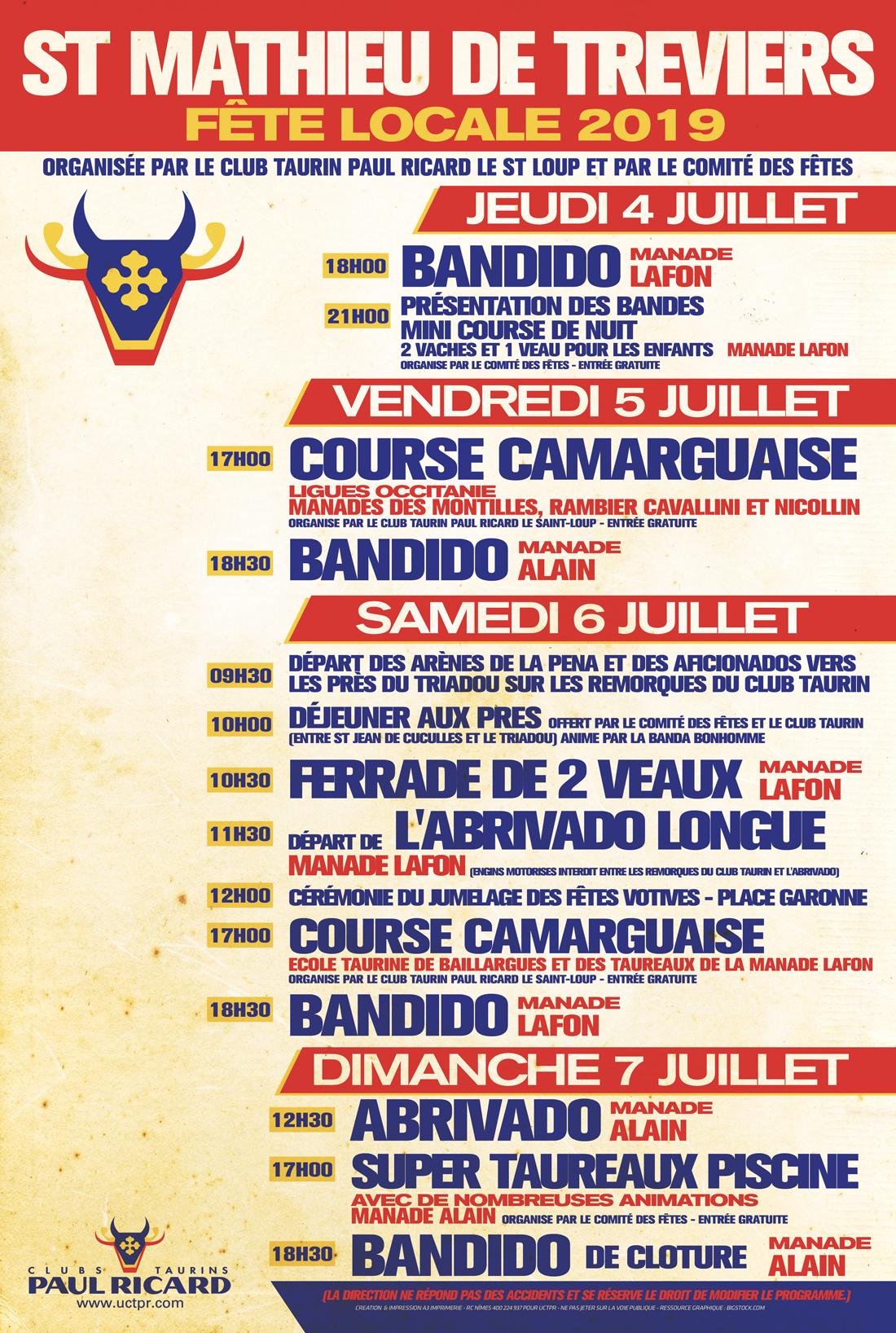 Fete Locale 2019 St-Mathieu De Treviers | Union Des Clubs ... intérieur Piscine St Mathieu De Treviers