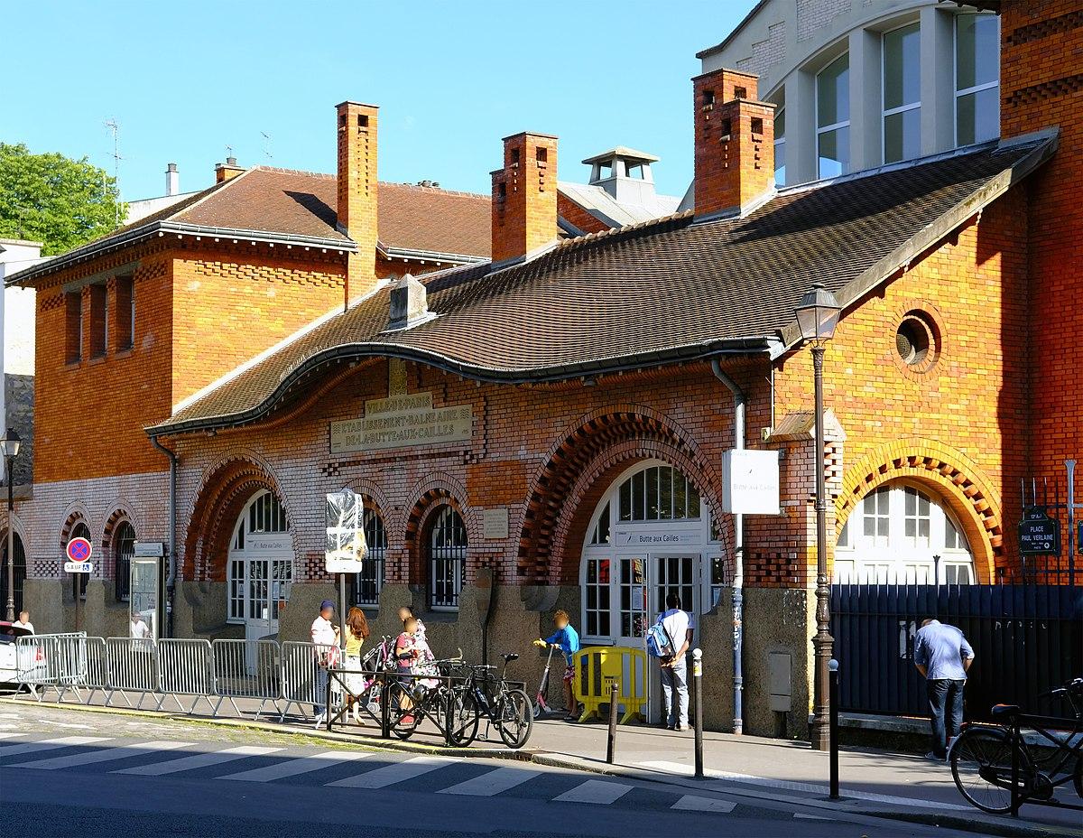 File:f1813 Paris Xiii Place Paul-Verlaine Piscine Butte ... avec Piscine La Butte Aux Cailles