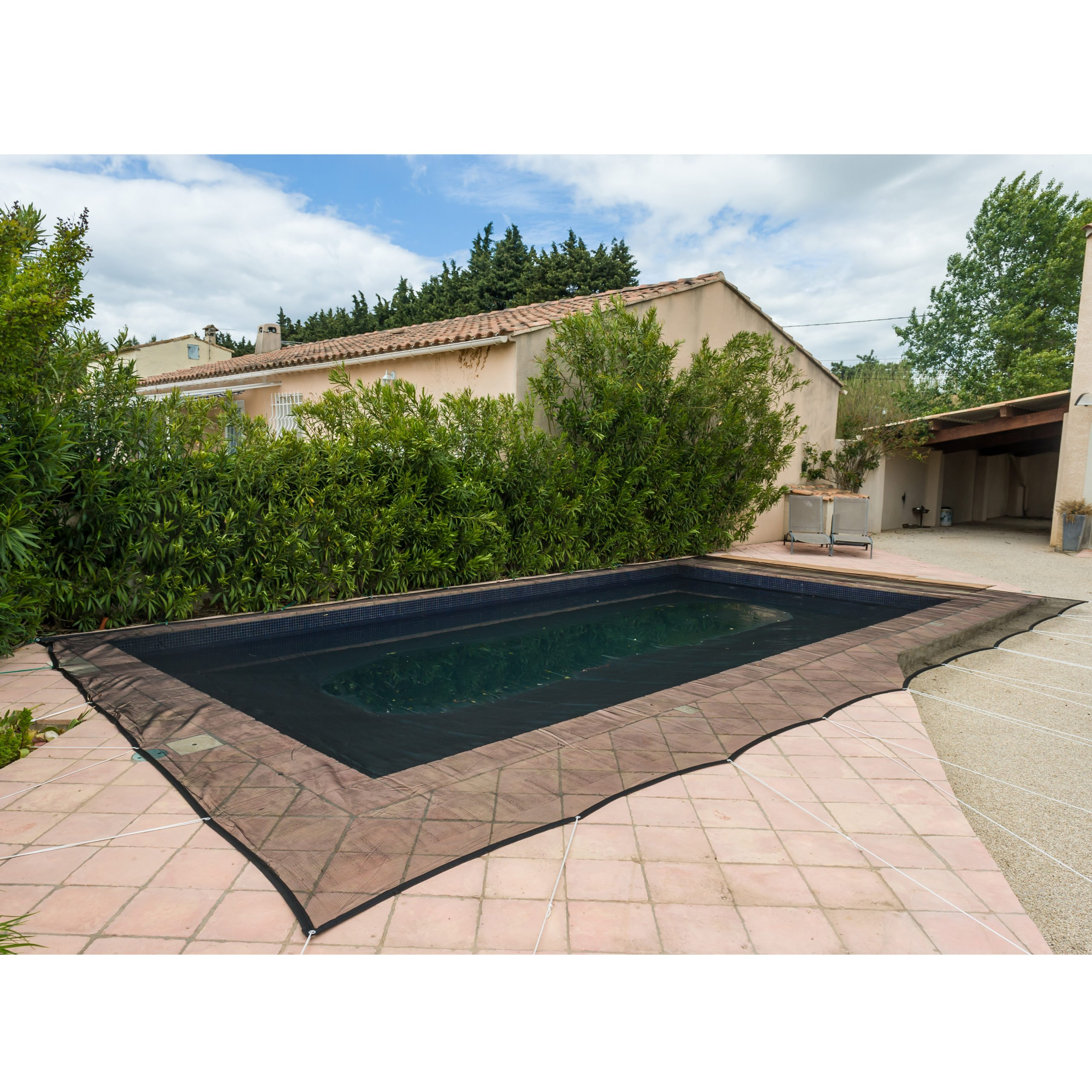 Filet De Protection Piscine 100G/m² Werkapro (4X7M) à Filet Protection Piscine