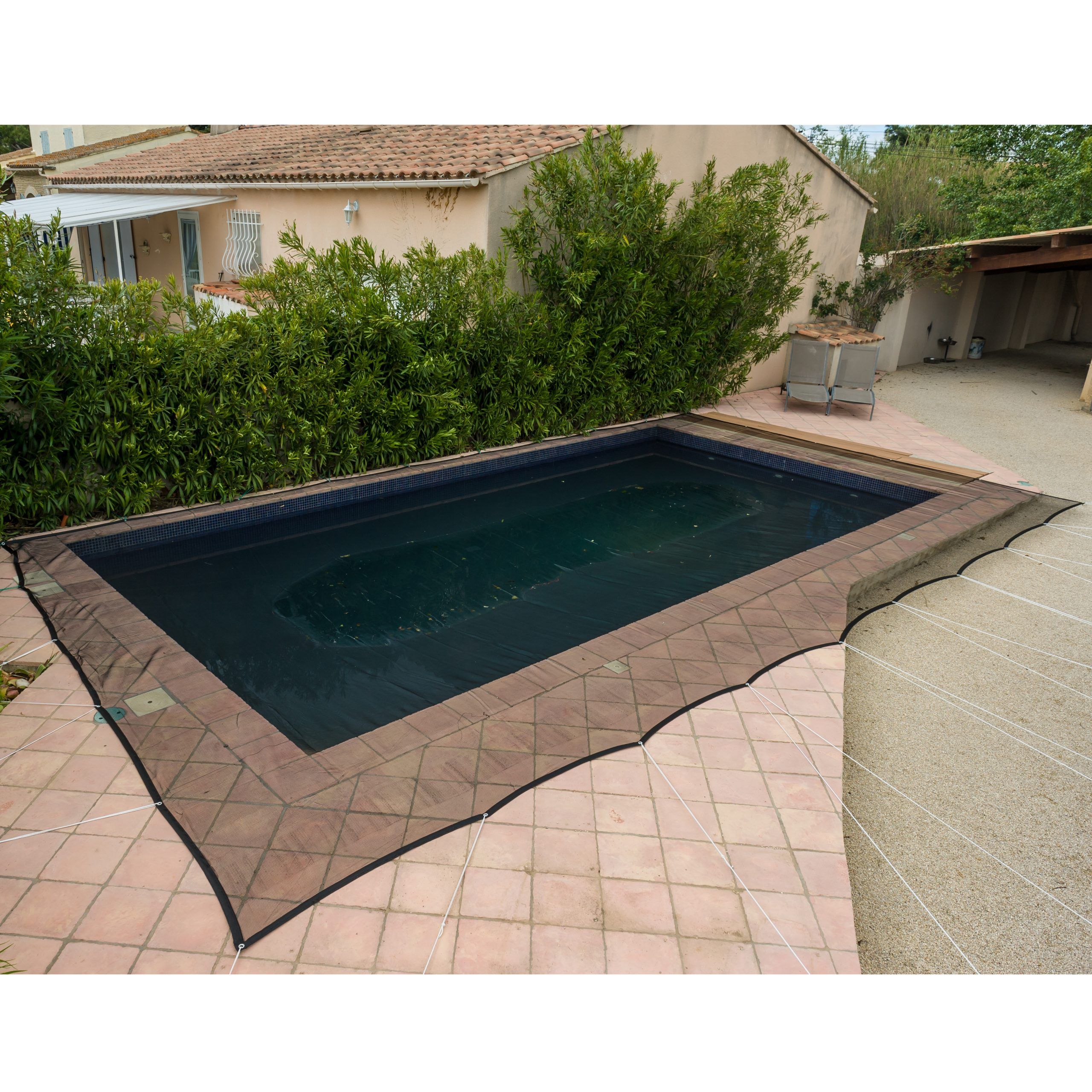 Filet De Protection Piscine 100G/m² Werkapro (8X14M) encequiconcerne Filet Protection Piscine