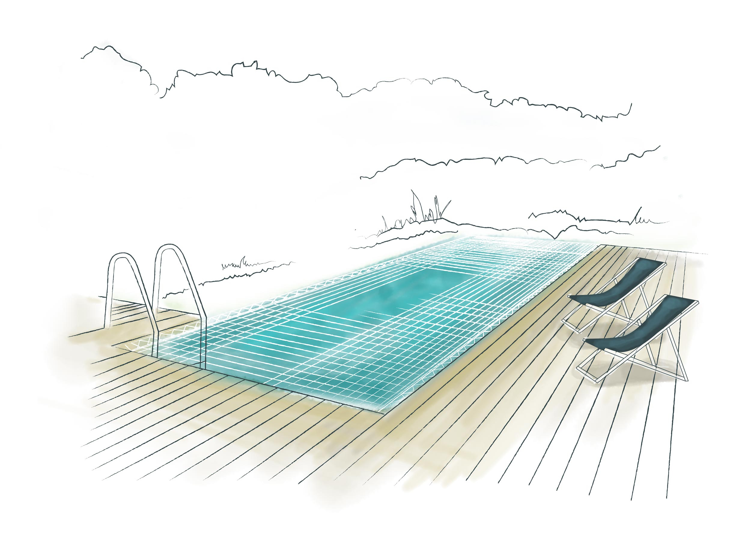 Filet De Protection Sur Mesure Pour Piscine - Nets&co dedans Filet Protection Piscine