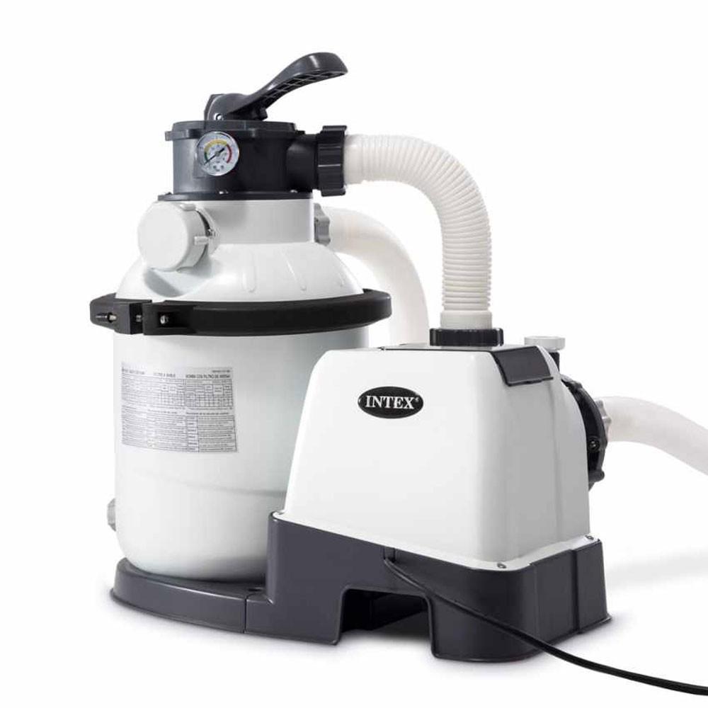 Filtre À Sable Intex 4 M3/h Pour Piscine Hors Sol Jusqu'À 20M3 dedans Coffre De Filtration Piscine Pas Cher
