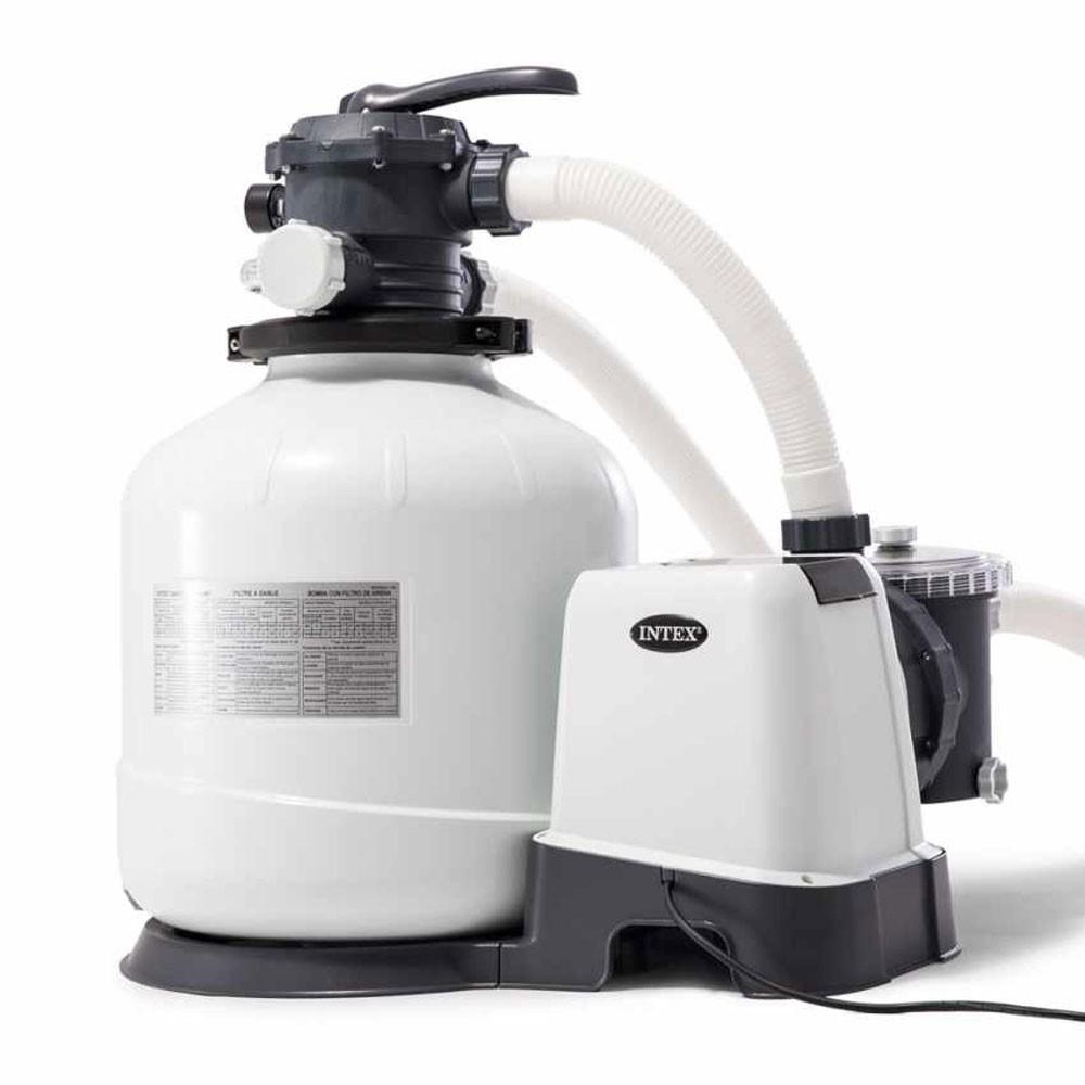 Filtre À Sable Intex 8 M3/h Pour Piscine Hors Sol Jusqu'À 56M3 encequiconcerne Pompe Pour Piscine Intex