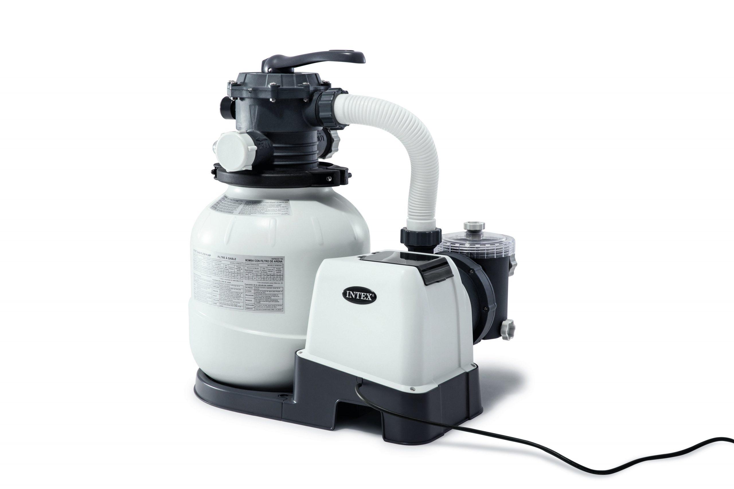 Filtre À Sable Pour Piscine Intex 6 M³/h concernant Pompe Piscine Intex Leroy Merlin
