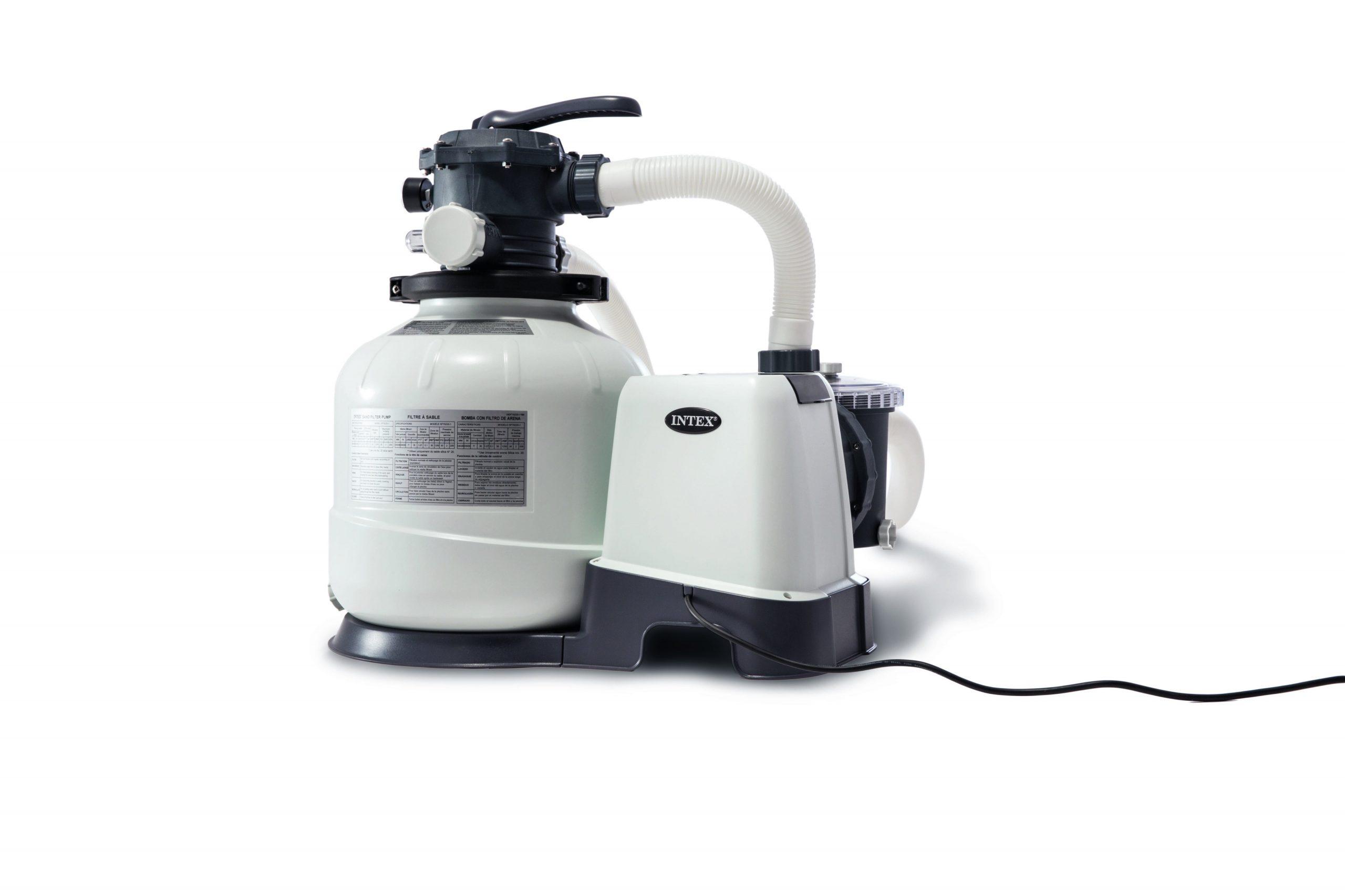 Filtre À Sable Pour Piscine Intex 8 M³/h encequiconcerne Pompe Piscine Intex Leroy Merlin