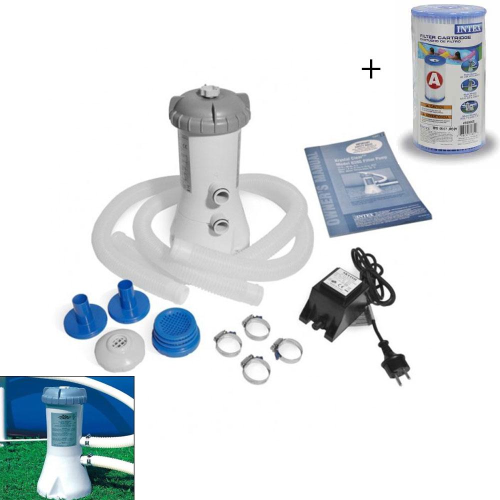 Filtre Pour Piscine Epurateur A Cartouche 2.7 M3/h (C3,8) Intex encequiconcerne Filtre Pompe Piscine Intex