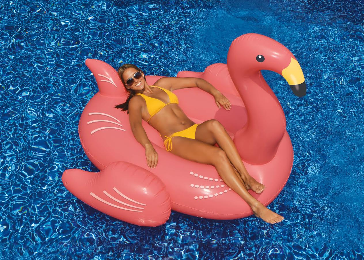 Flamant Rose Gonflable avec Flamant Rose Piscine