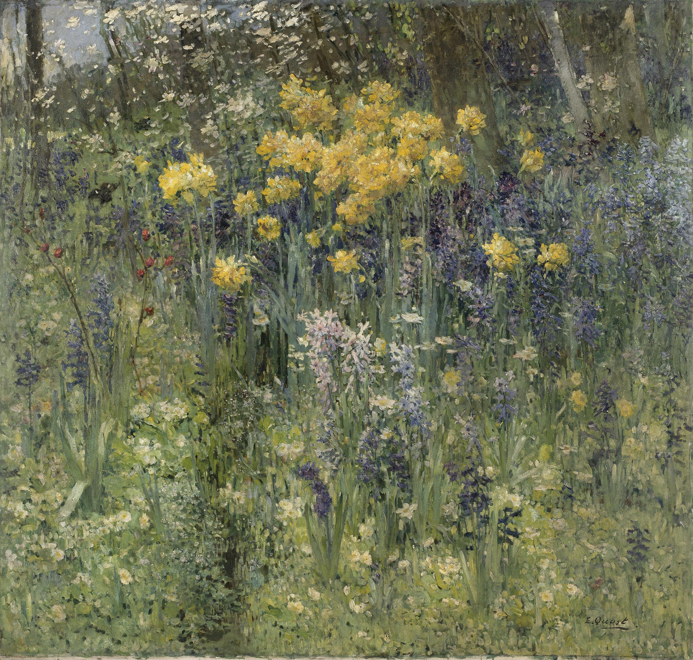 Fleurs De Pâques - Ernest Quost (1844 - 1931) - 1890 pour Piscine Avallon