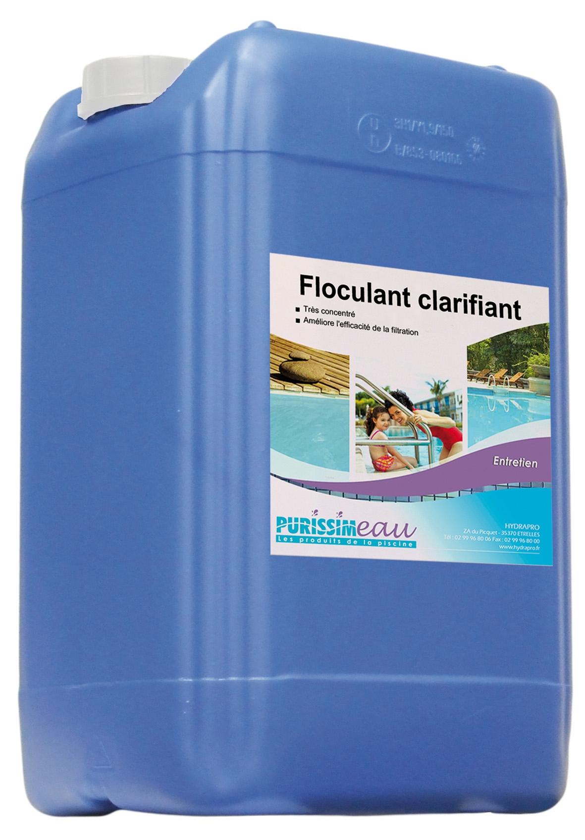 Floculant Clarifiant Pro Liquide Produit Piscine Bidon 20 L pour Clarifiant Piscine
