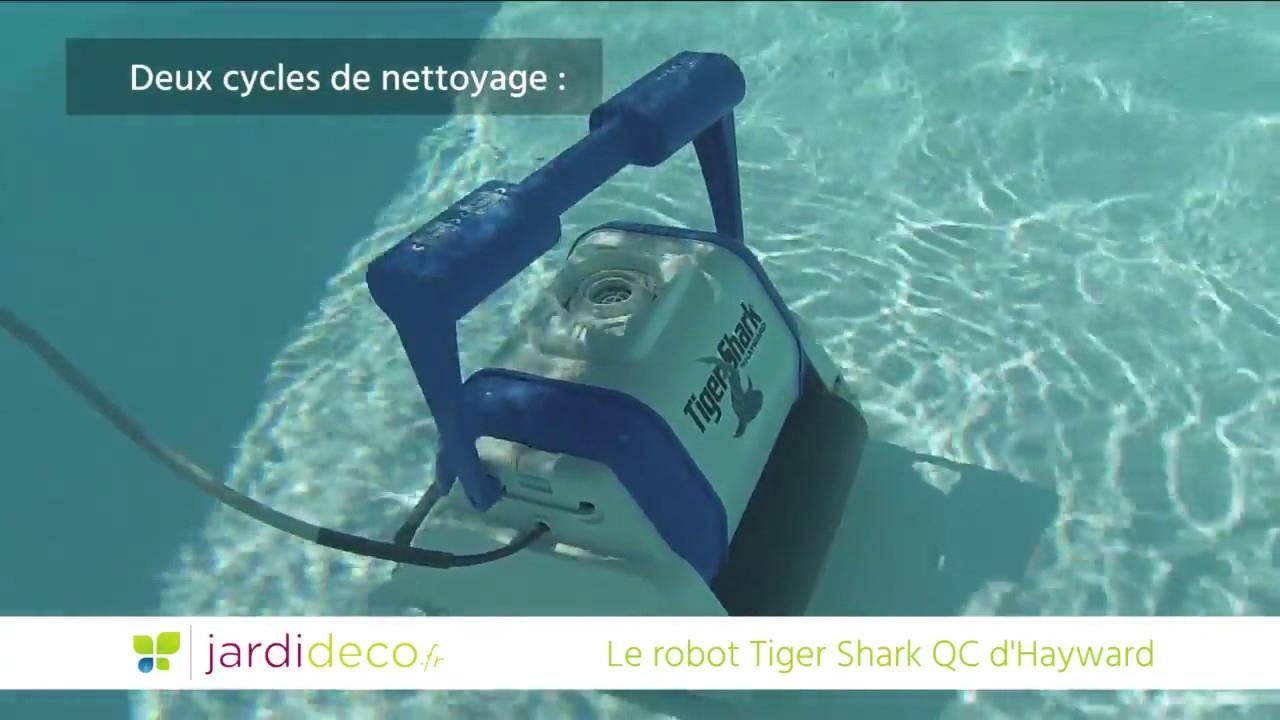 Fonctionnement Du Robot De Piscine Électrique Tiger Shark Qc D'Hayward pour Location Robot Piscine