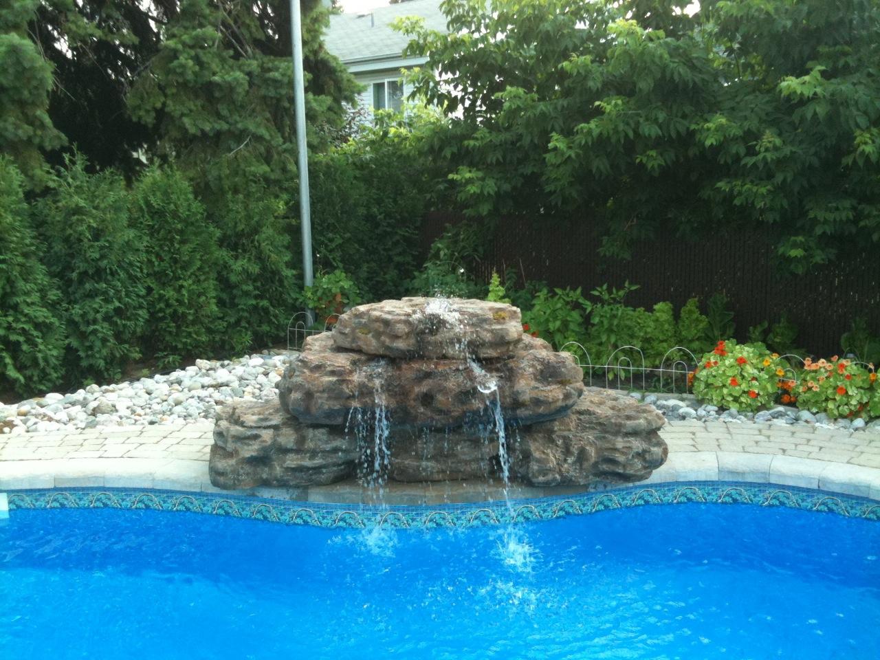 Fontaine D'eau Copal Pour Piscines Et Cascade De Bassin De ... intérieur Cascade Pour Piscine