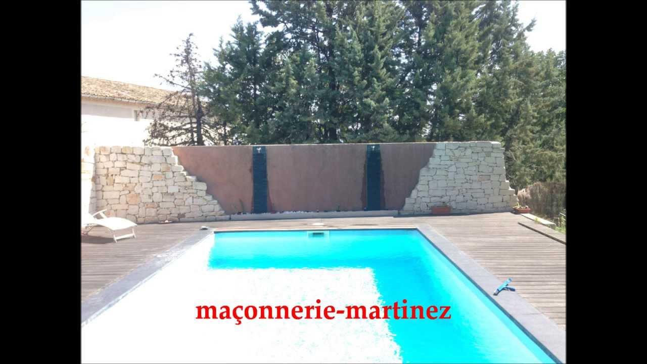 Fontaine, Mur Piscine, Décor Maçonnerie-Martinez pour Piscine De Fontaine