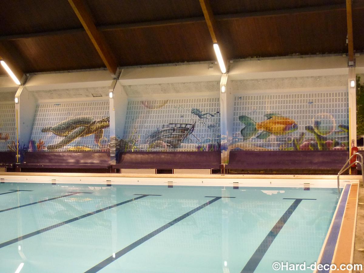 Fresque Piscine De Corbeil-Essonnes | Hard Deco pour Piscine De Corbeil