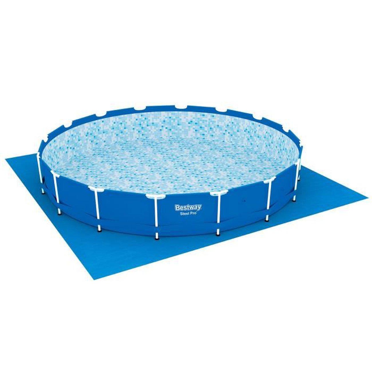 Generique Bache - Couverture - Volet - Enrouleur Tapis De Sol Pour Piscine  Ronde Fast Set Pools Ou Steel Frame Pools - Ø 487 Cm pour Bache Piscine Ronde