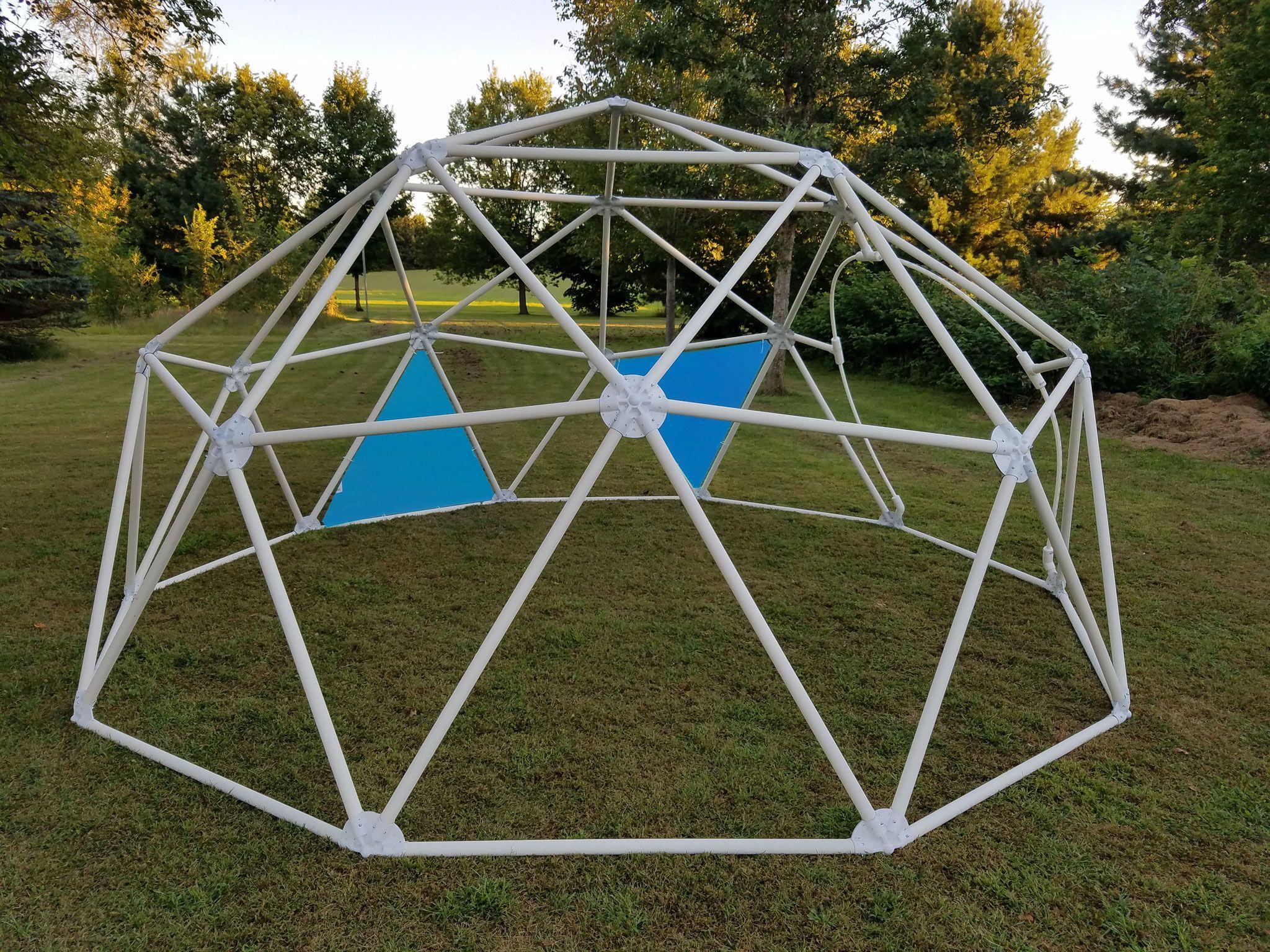 Geodesic Dome Connectors - Geodesicdomekits | Geodesic ... dedans Dome Piscine Hors Sol