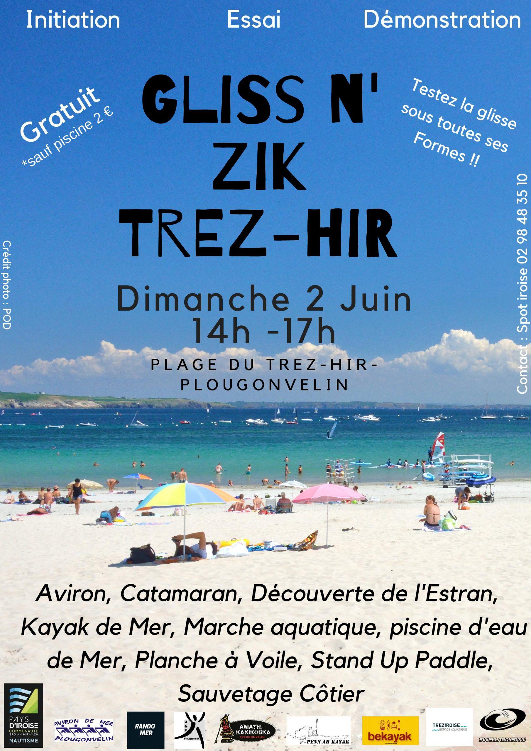 Gliss N'zik Trez-Hir | Office De Tourisme De Iroise Bretagne ... tout Zik Piscine