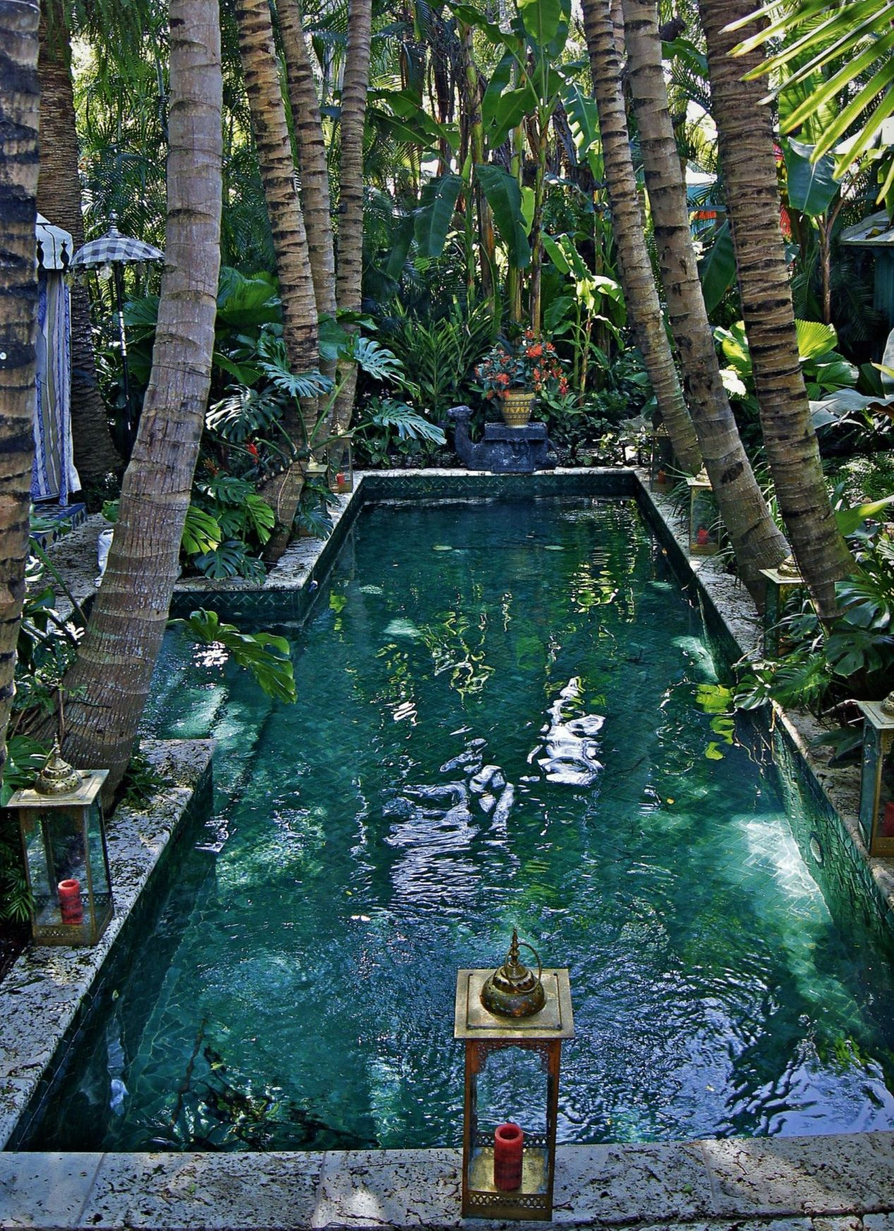 Gorgeous | A Girl Can Dream... | Piscine, Giardino D'acqua E ... intérieur Palme Piscine