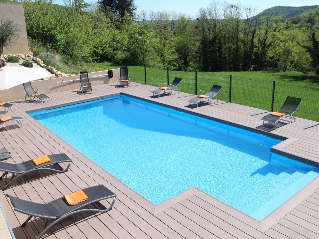 Grande Maison En Ardèche Avec Piscine Chauffée,jacuzzi 6P, Literies Et  Linges - Alba-La-Romaine intérieur Vacances En Ardèche Avec Piscine