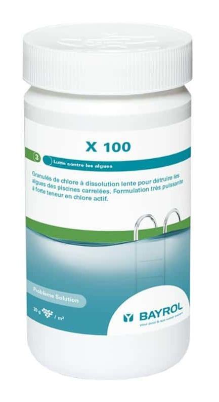 Granulés De Chlore À Dissolution Lente Bayrol X100 - Anti Algues dedans Colmateur De Fuite Piscine