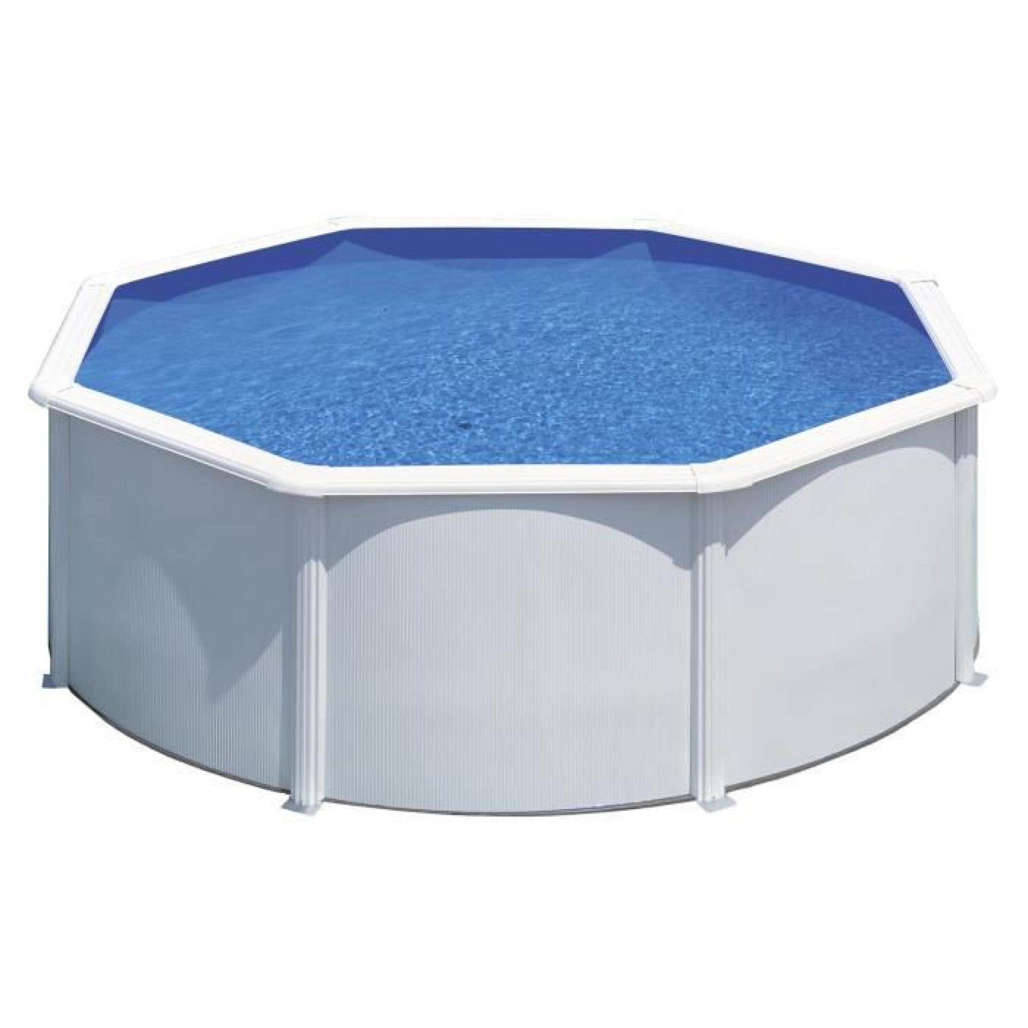 Gre Kit Piscine Hors-Sol Ronde En Acier Wet Ø3,50X1,20 M - Liner Bleu dedans Echelle Piscine Hors Sol Pas Cher