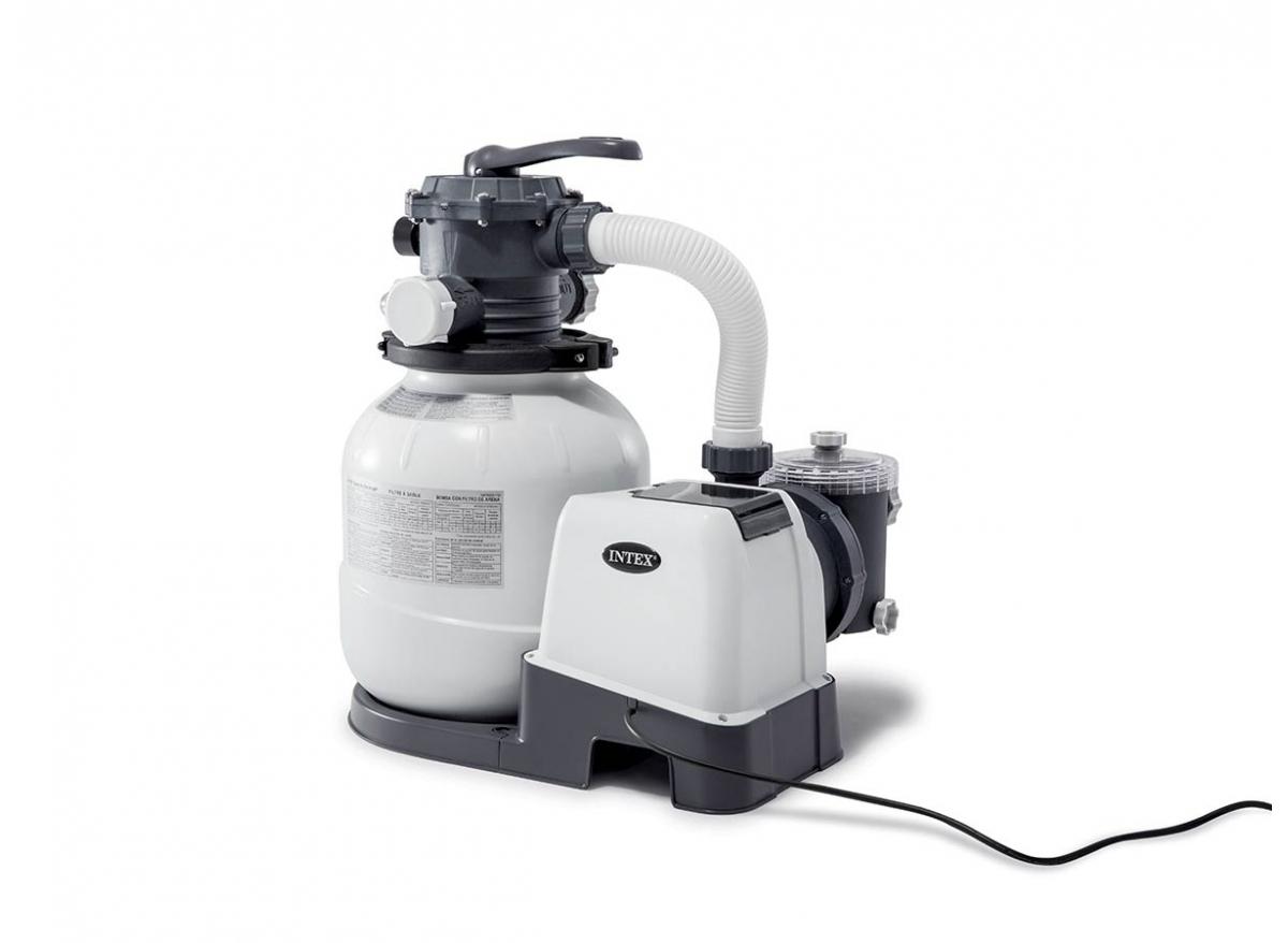Groupe De Filtration À Sable 6 M³/h - Intex - avec Pompe Pour Piscine Intex