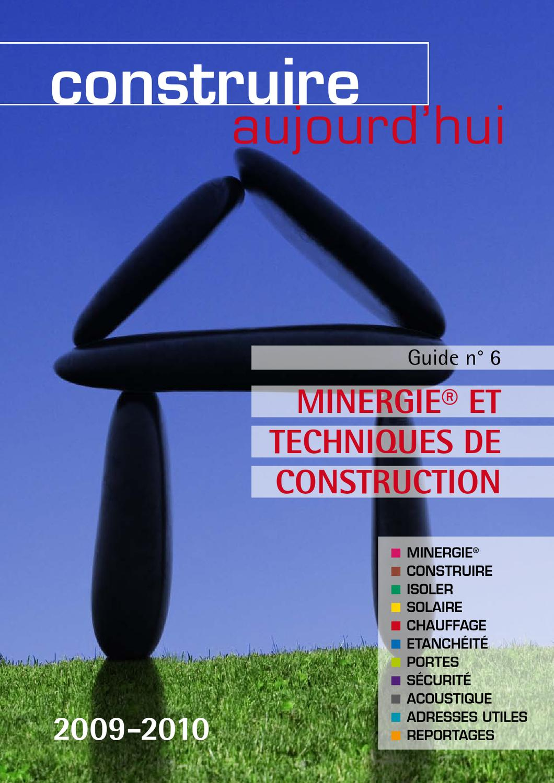 """Guide """"construire Aujourd'hui"""" - Minergie® Et Techniques De ... concernant Dimension Piscine Non Imposable"""