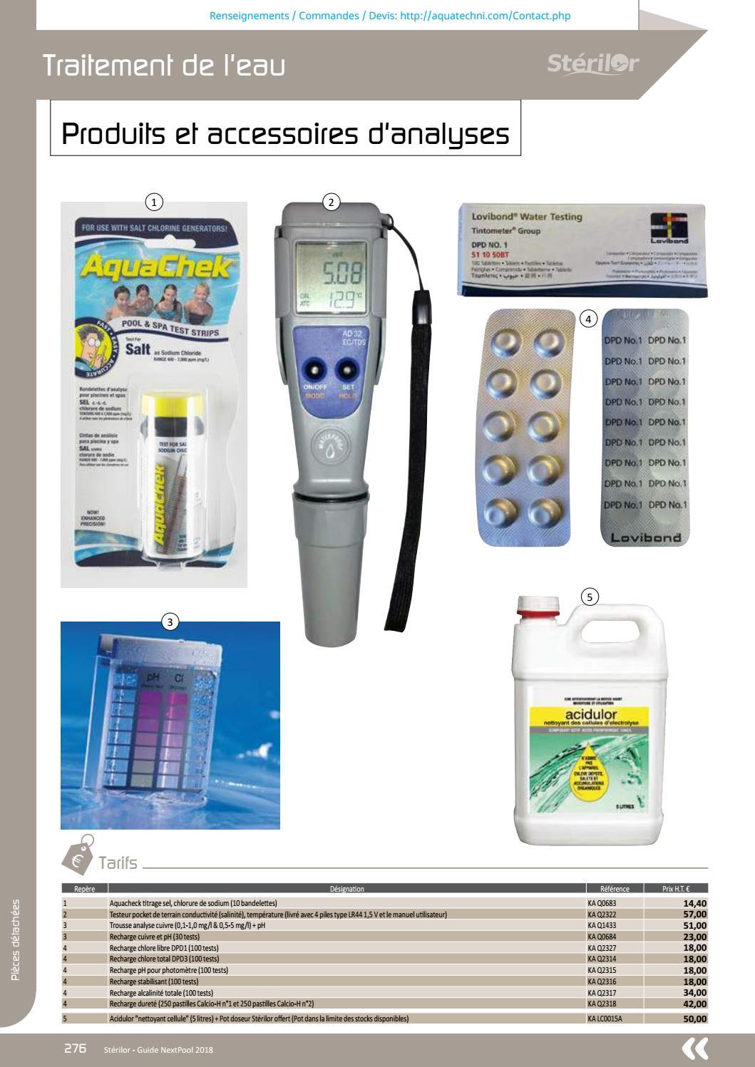 Guide Piscine Complet Fr Aquatechni Universal 2018 A By ... concernant Photomètre Piscine