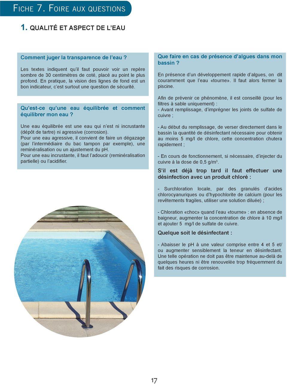 Guide Pratique De L Autosurveillance Des Piscines - Pdf ... intérieur Sulfate De Cuivre Piscine