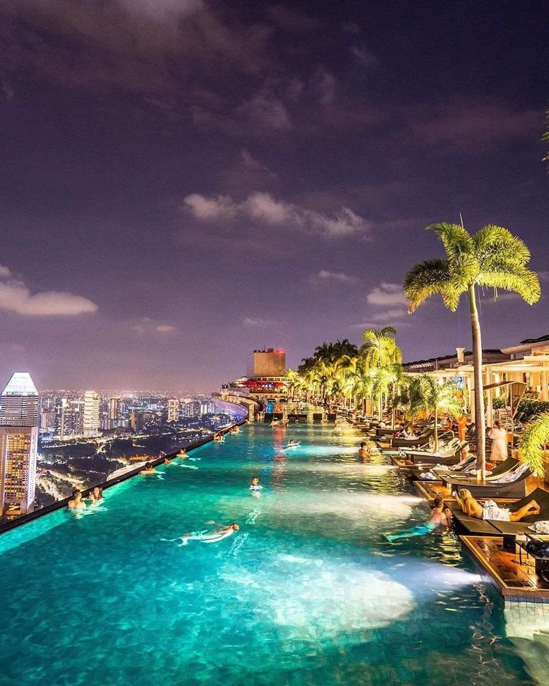 Highest Rooftop Pool In The World ~ Singapore ... à Piscine Singapour