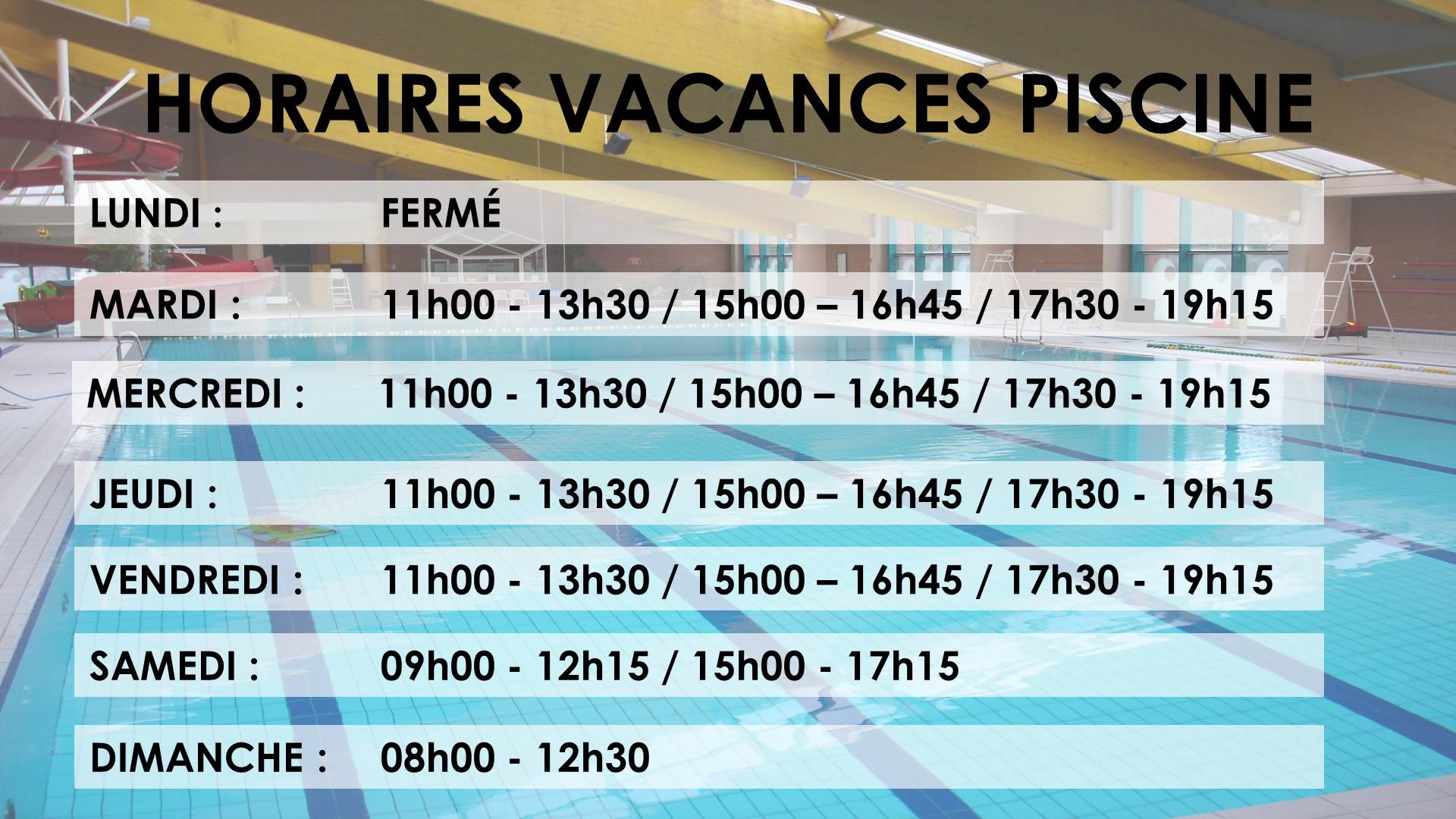 Horaires Piscine Vacances Scolaires – Sivu-Thalassa.fr pour Piscine Thalassa Roubaix