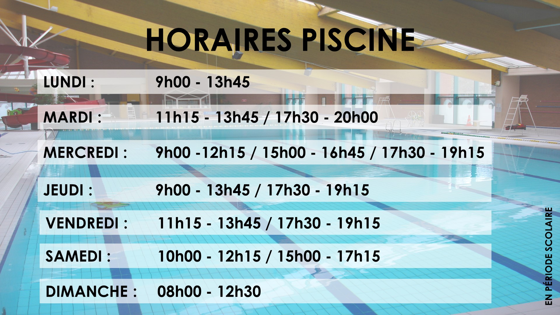 Horaires Thalassa, Horaires Piscine Roubaix destiné Horaire Piscine Ronchin