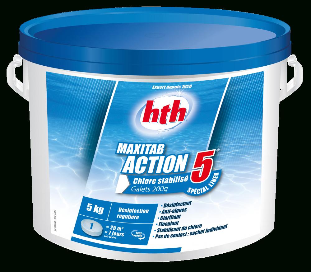 Hth Maxitab 200G Action 5 Spéc. Liner pour Sulfate De Cuivre Pour Piscine