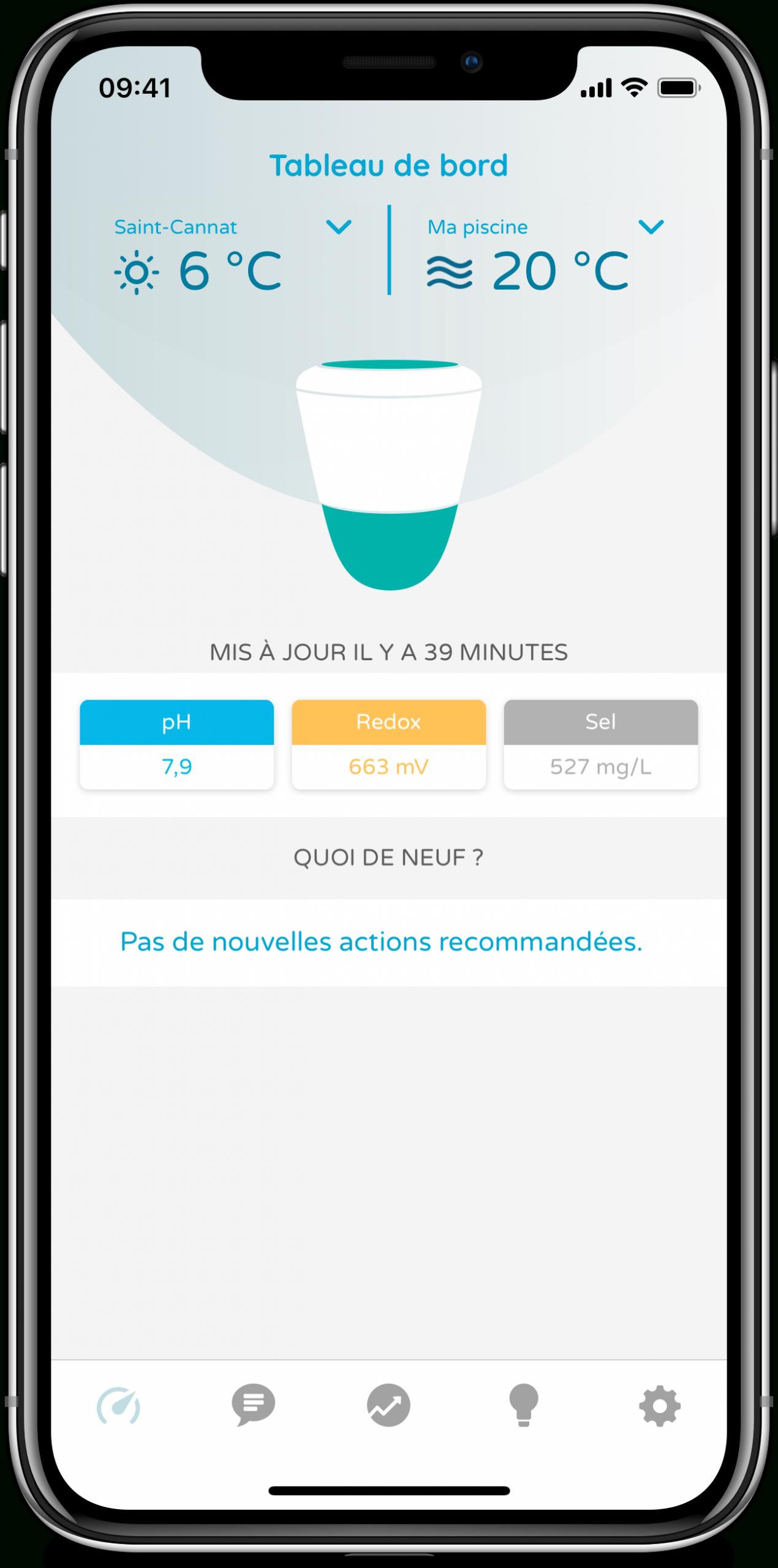 Ico Ilot Objet Connecté Entretien Piscine Spa Ondilo avec Analyse Eau Piscine