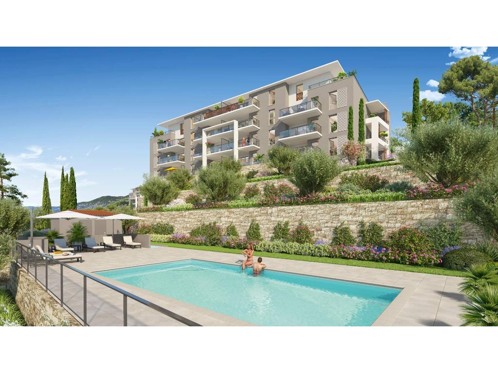 Immobilier Appartement Grasse Grasse Dans Residence De ... intérieur Piscine Grasse