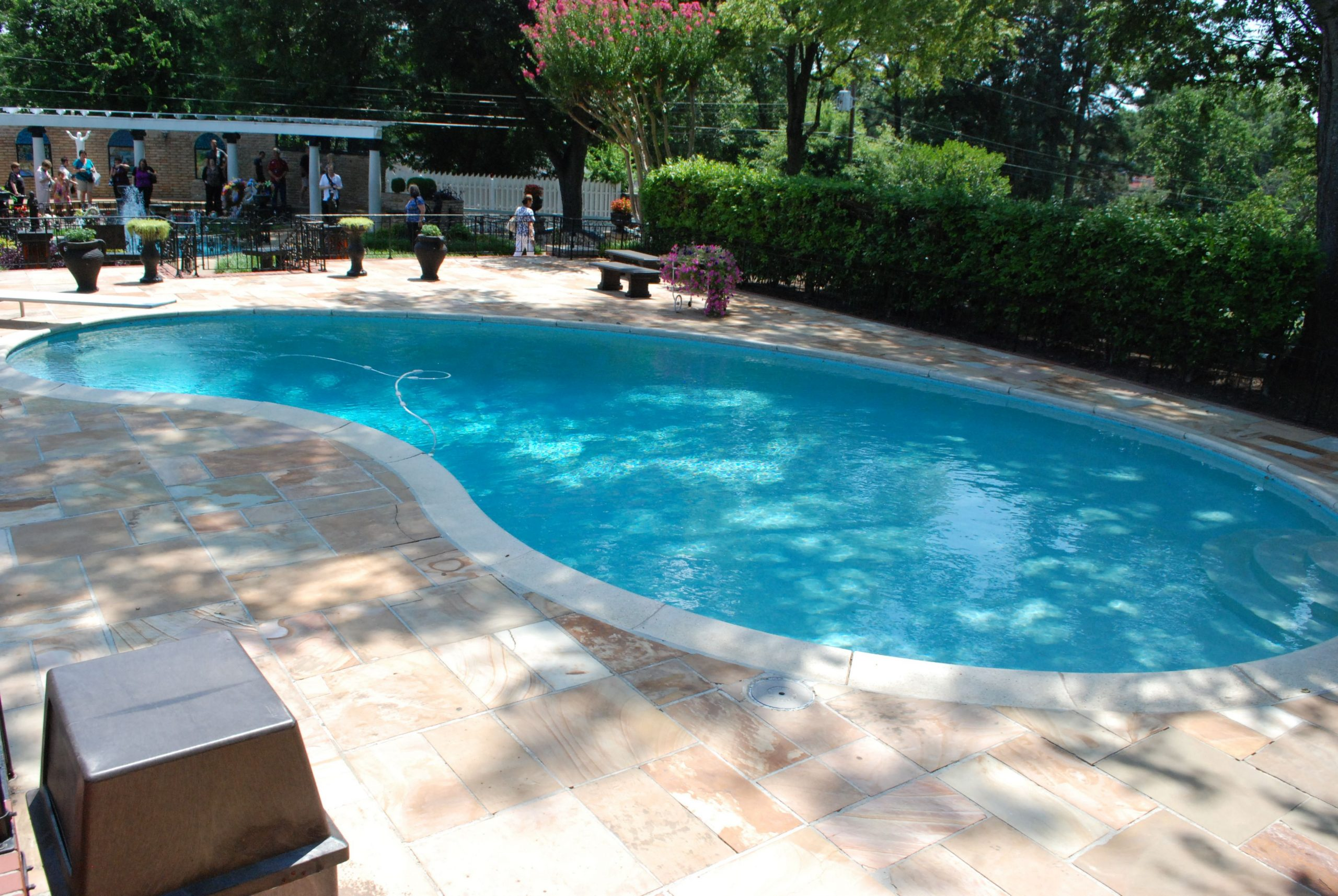 In June Of 1957 Elvis Had A Swimming Pool Installed At ... pour Piscine Vernon