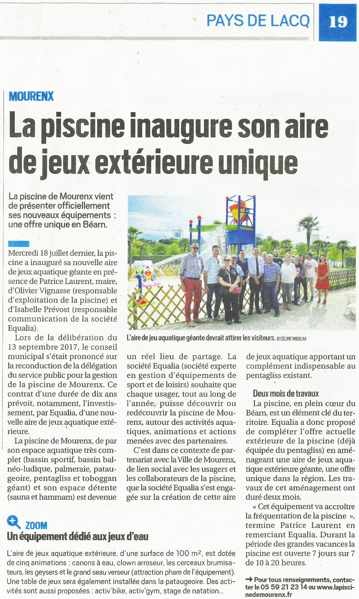 Inauguration Aire De Jeux Géante Aquatique De La Piscine De ... dedans Piscine De Mourenx