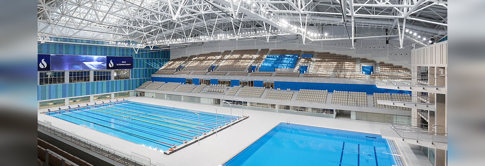 Indoor Competition Pool / Indoor Baku 2015, 1St European ... pour Piscine Saran