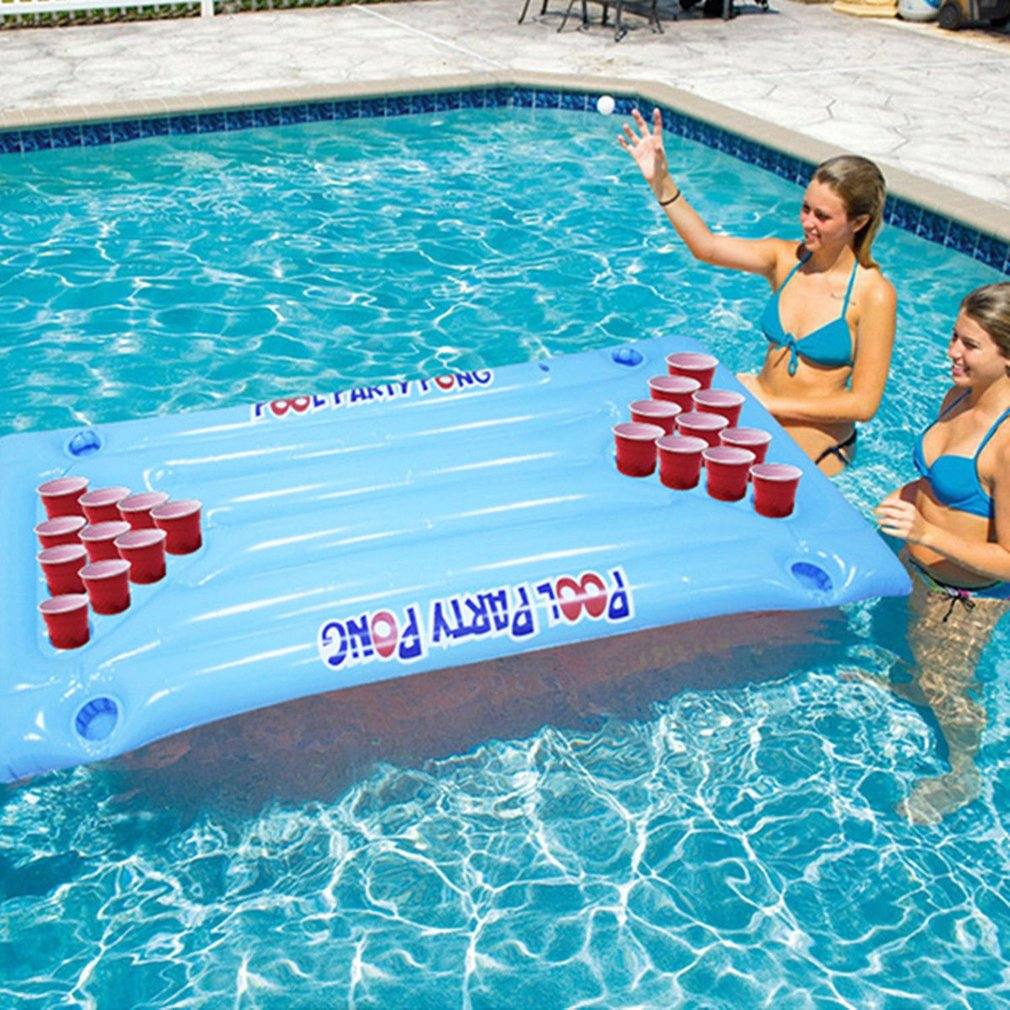 Inflatable Beer Pong Float Table Swimming Pool Raft Lounge ... à Beer Pong Piscine