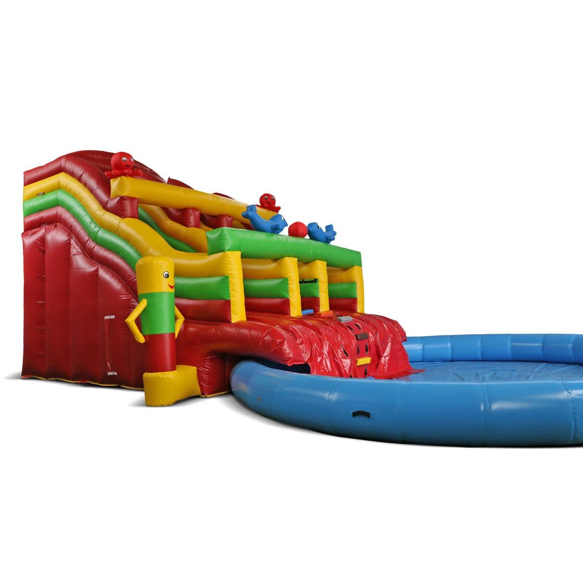 Inflatable Swimming Pool Slide #01 intérieur Toboggan Piscine Gonflable